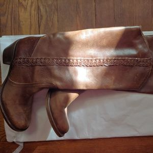 Steve Madden/Hyyper braided leather pull on boots